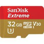 Sandisk 32GB SD micro ( SDHC Class 10) Extreme UHS-I V30 memória kártya adapterrel