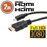 Delight 2m HDMI -  micro HDMI kábel